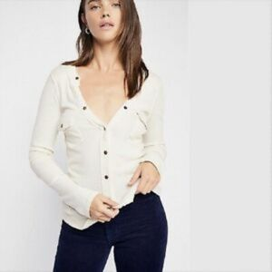 NEW Free People Starlight Henley T-Shirt Small